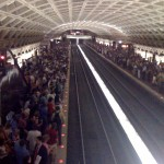I took this photo from my iPhone at Metro Center last week during afternoon rush hour